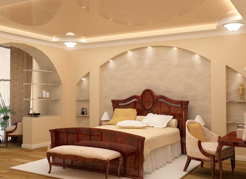 Арки из гипсокартона дизайн для спальни