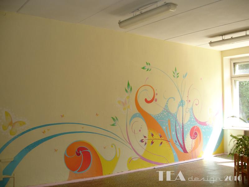 Роспись стен в детском саду