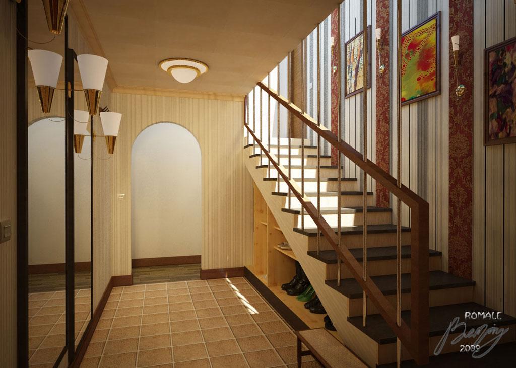 Дизайн коридора в двухэтажном доме
