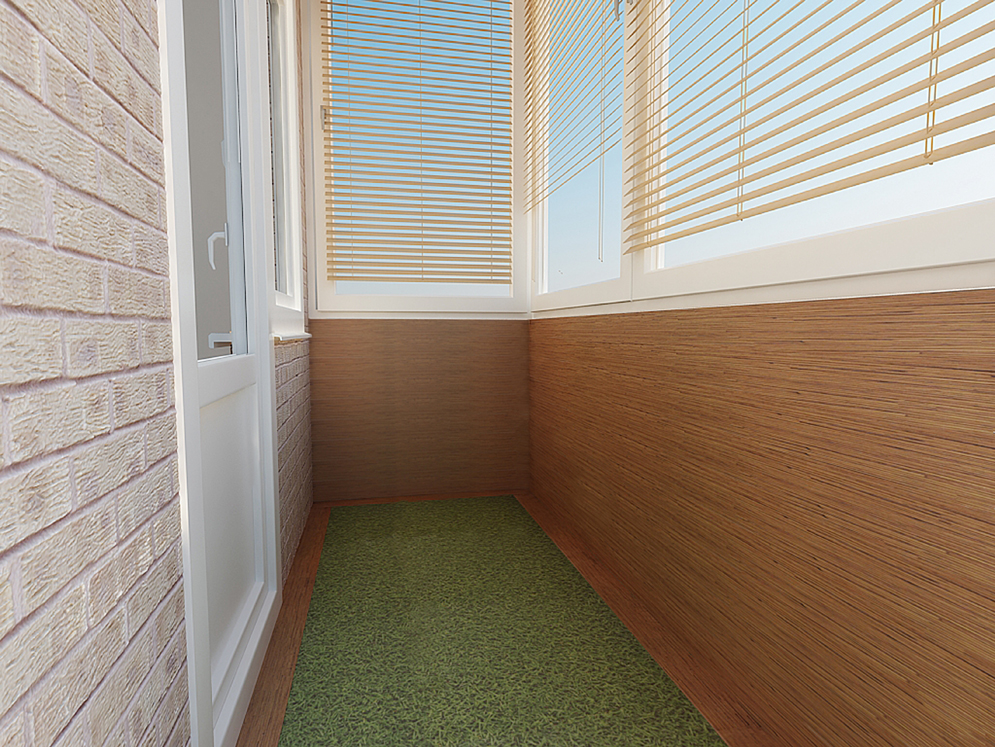 Отделка пола на открытом балконе фото..